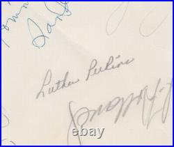 1956 Johnny Cash Luther Perkins Carl Perkins Signed SUN Records Promo Photo JSA