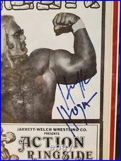 1979 HULK HOGAN orig promo pamphlet signed autograph jsa coa indiana rookie rc