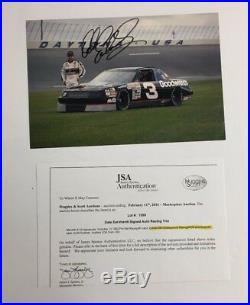 1990 Dale Earnhardt SR Autographed Promo Car Racing Photo JSA Authenticated