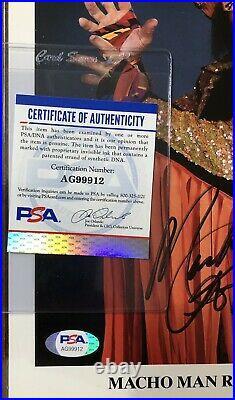 1990s Vintage WWF Promo Macho Man Randy Savage Auto Autograph PSA DNA Signed