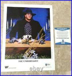 1991 WWF TitanSports Original Promo The Undertaker SIGNED Beckett COA RARE