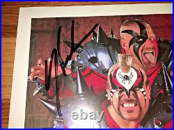 1997 WWF Legion of Doom Hawk & Animal Signed P-403 Promo Photo Road Warriors LOD