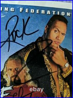 1999 WWF Promo Photo Autograph The Rock Stone Cold Steve Austin Mick Foley More