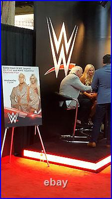 2017 Wwe Wwf Issue Promo Dual Signed Auto Photo Card Ric & Charlotte Flair Hof