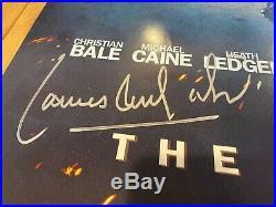 27x40 Autographed Batman Dark Knight PROMO Poster HANS ZIMMER + JAMES HOWARD