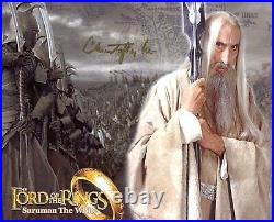 ACTOR Christopher Lee (+) LORD OF THE RINGS autograph, signed promo photo