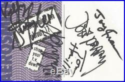 AEROSMITH Signed Autograph 4x6 SNL Promo Steven Tyler Plus 4 JSA LOA