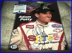 Adam Petty Signed NASCAR 8 1/2 x 11 Promo Photo BAS Beckett Certified