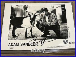 Adam Sandler Signed Saturday Night Live The Goat Skit Promo 8x10 Beckett/JSA