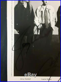 Alice In Chains Autographed Signed 8x10 Promo Photo 4 Sigs Layne Staley Cantrell
