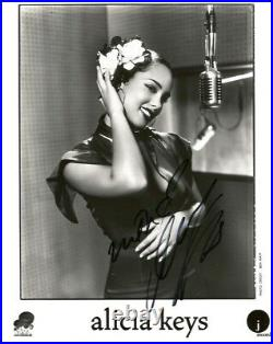 Alicia Keys SINGER AND ACTRESS autograph, In-Person signed promo photo
