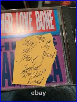Andrew Wood Signed Autographed MOTHER LOVE BONE Paper With PROMO CD RARE SEATTLE