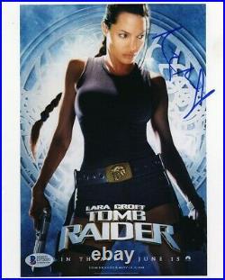 Angelina Jolie Tomb Raider Promo Autographed Signed 8x10 Photo Beckett BAS COA