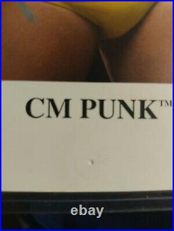 Autographed CM Punk WWE ECW Promo Photo 8x10 UFC Read Description