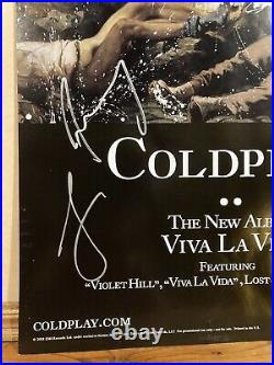 Awesome Signed Coldplay Viva la Vida Promo Poster, Four Signatures 11x17