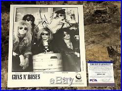 Axl Rose Rare Hand Signed Promo Press Photo Autographed Guns N Roses PSA DNA
