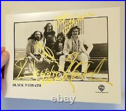 BLACK SABBATH SIGNED IN GOLD BY ALL. 8 x 10 BLACK & WHITE PROMO PHOTO BEAUTIFUL