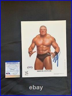 BROCK LESNAR Autographed ORIGINAL WWF (WWE) PROMO Photo withPSA DNA AUTHENTICATION