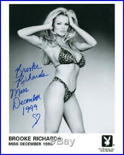 BROOKE RICHARDS SIGNED AUTOGRAPHED 8x10 PLAYBOY PLAYMATE PROMO PHOTO BECKETT BAS