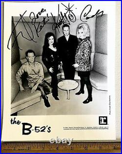 B-52's Signed Promo Photo Kate Pierson Cindy Keith Fred Schneider COSMIC THING