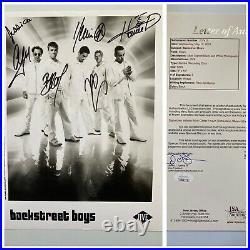 Backstreet Boys Signed By All 5 Autograph 8x10 Promo Photo JSA FREE S&H