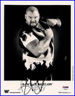 Bam Bam Bigelow Signed Original 1992 WWF Promo 8x10 Photo PSA/DNA WWE Autograph