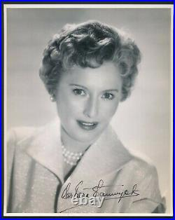 Barbara Stanwyck 1950's Signed Double Weight 8x10 Promo Portrait Autograph