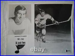 Barclay Plager Signed Autograph St. Louis Blues Orig 1972 Promo Photo Bas Rare