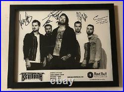 Beartooth Autographed Signed Framed Promo Photo With Signing Picture Proof