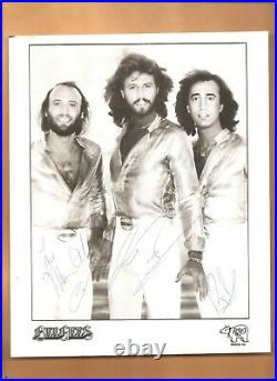 Bee-gees Autographed/signed 8x10 Promo Photograph Barry/robin/maurice Gibb