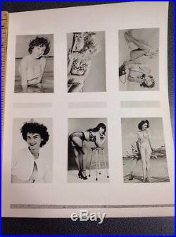 Bettie Page By Bunny Yeager Original Promo Sheet Signed Pin Up Photo 6 Models