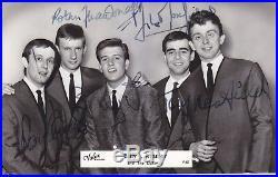 Billy J. Kramer & The Dakotas signed vintage promo card British Invasion Beatles