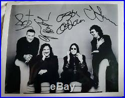 Black Sabbath Fully Signed Promo Photo X4 Full Coa Real Roger Epperson