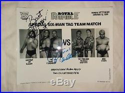 Bret Hart Jim Neidhart Orig Signed Autographed Wwf Promo Photo 1988 Wwf Wwe Bas