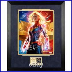 Brie Larson Autographed Captain Marvel 11x14 Framed Promo Photo