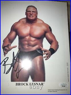 Brock lesnar signed autograph original promo wwe ufc aew