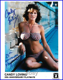 CANDY LOVING 25th ANNIVERSARY PLAYBOY PLAYMATE SEXY SIGNED PROMO PHOTO (CN4)