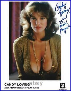 CANDY LOVING 25th ANNIVERSARY PLAYBOY PLAYMATE SEXY SIGNED PROMO PHOTO (CN6)