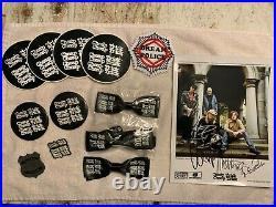 Cheap Trick Dream Police Promo Badge Plus Signed Photo and Other Memorabilia