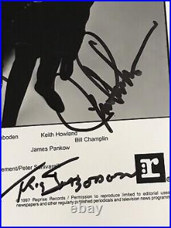 Chicago band x8 signed original promo photo autograph Pankow Lamm Scheff Howland