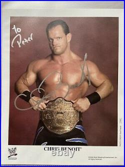 Chris Benoit Autogramm WWE WWF Promo Photo autograph signed