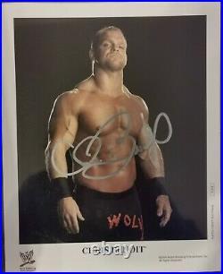 Chris Benoit Original WWF WWE WCW Promo Photo signed 8x10 Wrestling Autograph