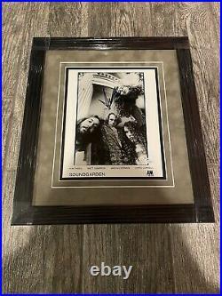 Chris Cornell Signed Framed Soundgarden Promo Photo Jsa Coa Sticker Legend Rock