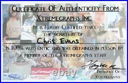 Chris Evans CAPTAIN AMERICA photo SIGNED 8x10 AVENGERS promo MCU with COA