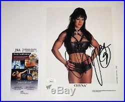 Chyna Hand Signed Wwf 8x10 Promo Photo With Jsa Coa Wwe
