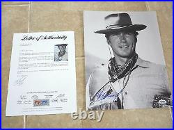 Clint Eastwood Western Signed Autographed 11x14 Promo Photo PSA Certified #11