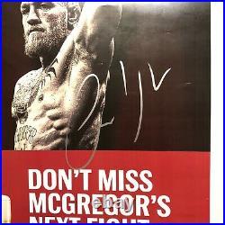 Conor Mcgregor signed 12x18 Budweiser Promo Ad Rare Autograph Psa Coa