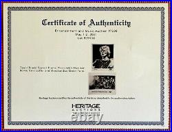 DAVID BOWIE signed DIAMOND DOGS merchandise autographed promo photo with LOA