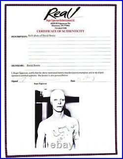 DAVID BOWIE signed GENUINE autographed TMWFTE ALIEN promo photo EPPERSON LOA