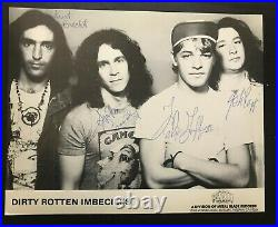 D. R. I. Signed Autographed Promo Photo -1987 Dirty Rotten Imbeciles Crossover